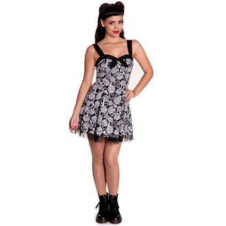 dress women HELL BUNNY - Avalon Mini - Black / white