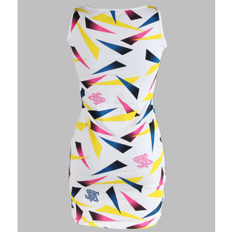 dress women SANTA CRUZ - Strip Mix - White
