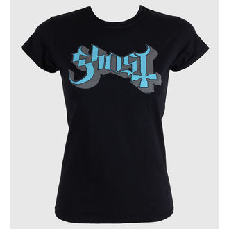 Women's t-shirt Ghost - Keyline Logo - Blue Grey - ROCK OFF, ROCK OFF, Ghost