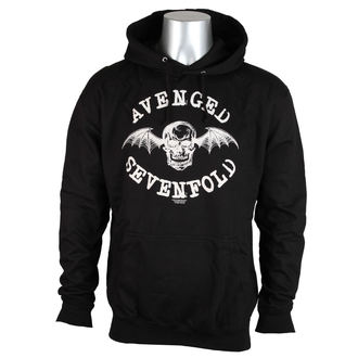 hoodie men Avenged Sevenfold - Logo - Black - ROCK OFF - ASHD01
