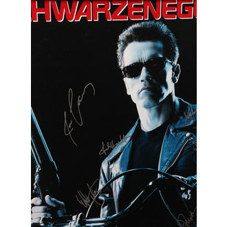 poster with signatures Terminator 2