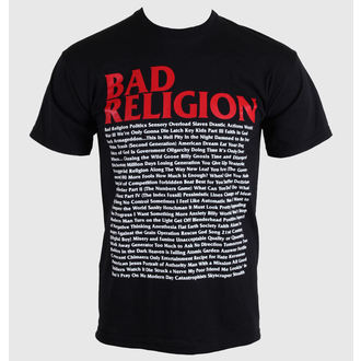 t-shirt metal men's Bad Religion - Song List - KINGS ROAD - 00384