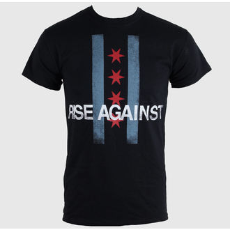t-shirt men Rise Against - Flag - Black - KINGS ROAD - 43674