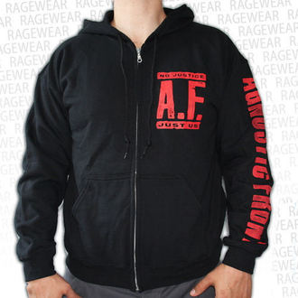 hoodie men's Agnostic Front - No Justice, Just Us - RAGEWEAR - 001HZS50