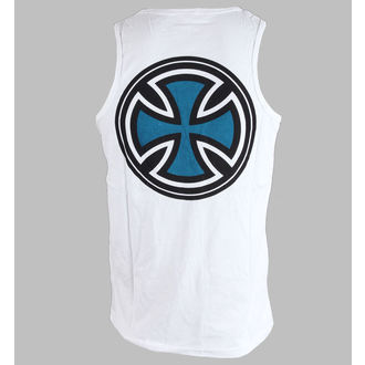 top men INDEPENDENT - PIN LINED CLASSIC CROSS VEST - WHITE