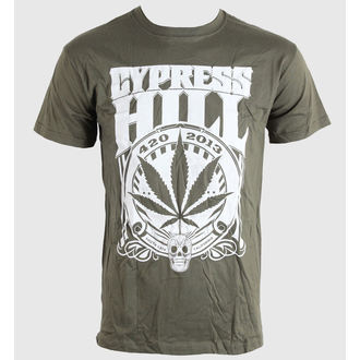 t-shirt men Cypress Hill - 420 2013 - Khaki - Bravado EU - CYPHTS01MK