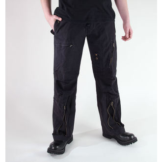 pants men MIL-TEC - Fliegerhose - Prewash Black - 11502002