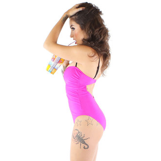 swimsuits women IRON FIST - Caged - Neon Pink