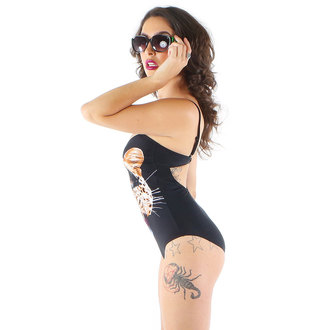 swimsuits women IRON FIST - Here Kitty - Black