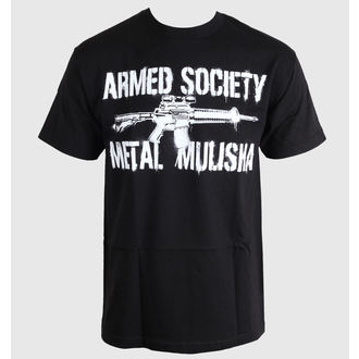 t-shirt street men's - ARMED - METAL MULISHA - M245S18232.01_BLK