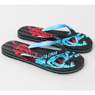 flip-flops women's unisex - Screaming - SANTA CRUZ - Black - MAFSP