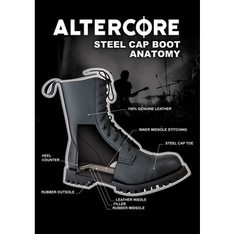 boots ALTER CORE - 10 eyelets - Black - 551