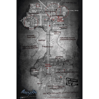poster Batman Origins - Map, GB posters