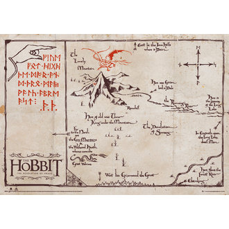 map The Hobbit - Mountain Map Parchment - GB posters - SPM003