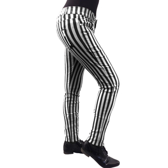 pants women BANNED - Stripe Skinny - White - TBN429WHT