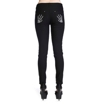 pants women BANNED - Skeleton Hands - Black - TBN425