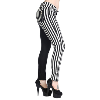 pants BANNED - Striped Trousers - Half Black / Half White - TBN416WHT