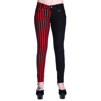 pants women BANNED - Striped - Half Black / Half Red - TBN416BLK
