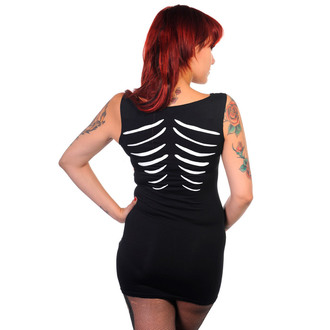 dress women (tunic) BANNED - Glow In The Dark Skeleton - Black - DBN536