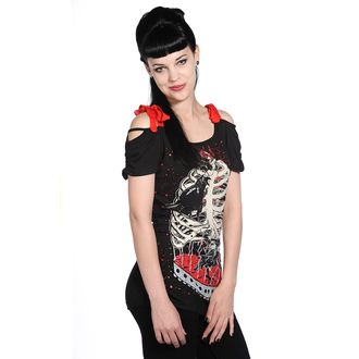 Women's t-shirt (top) BANNED - Bird In Skeleton Cage - Black - OBN119