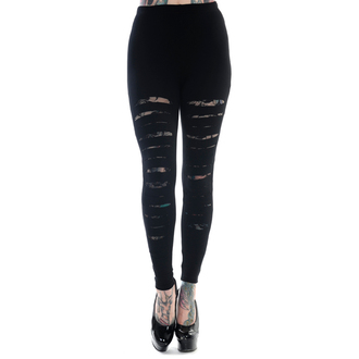 pants women (leggings) BANNED - Slashed - Black - LBN1105BLK