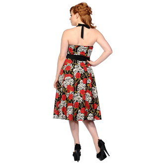 dress women BANNED - Skull And Roses - Black / Red, BANNED