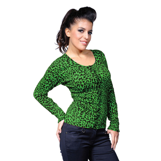 sweater women's BANNED - Green Leopard - CBN301GRE