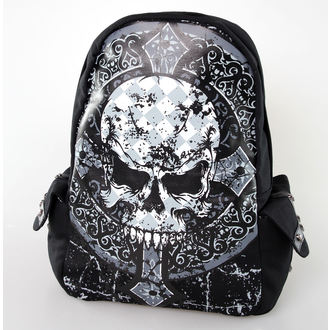backpack BANNED - Skull Cross - Black, BANNED