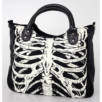 bag, handbag BANNED - Glow In The Dark Skeleton - Black - BBN733BLK