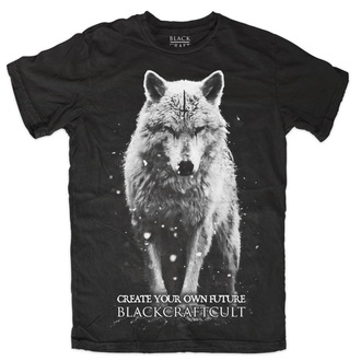 t-shirt men's - Lone Wolf - BLACK CRAFT - MT087LF
