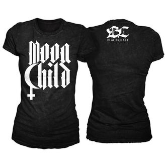 t-shirt women's - Moon Child - BLACK CRAFT - WT012MD