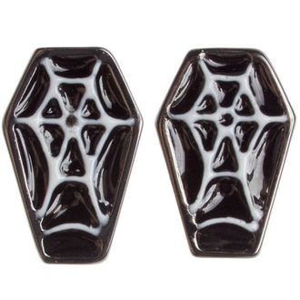earrings SOURPUSS - Coffin - Black / White, SOURPUSS