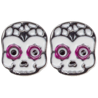earrings SOURPUSS - Sugar Skull - Purple - SPEA8