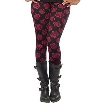 pants (leggings) women SOURPUSS - Omni Roses - Black - SPLE21