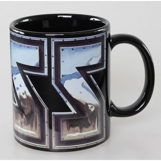 cup Kiss - Chrome Logo - Black ROCK OFF - KISSMUG04GM