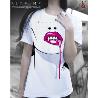 t-shirt men's women's unisex - Bite Me - EXHIBIT A GALLERY - White