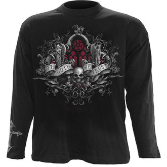 t-shirt men with long sleeve SPIRAL - IN GOTH WE TRUST - Black - DT234700