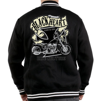 hoodie men's - Motorcycle K. - BLACK HEART - Black