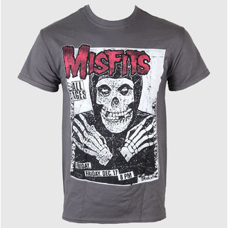 t-shirt men Misfits - All Ages Skeleton - LIVE NATION - Charcoal - PEMIS0040