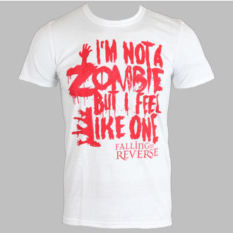t-shirt metal men's Falling In Reverse - Zombie (White) - PLASTIC HEAD - PH7519