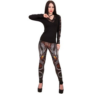 leggings women SPIRAL - OBSIDIAN - WM125430