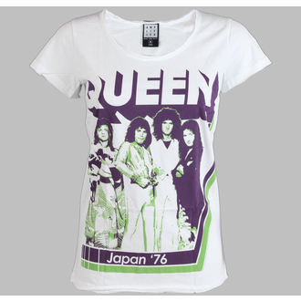 t-shirt metal women's Queen - AMPLIFIED -White - AMPLIFIED - AV601Q76