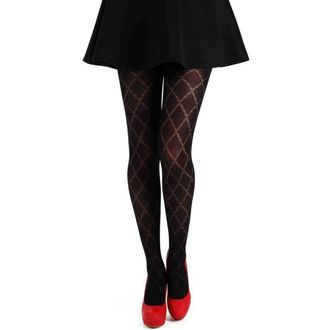 tights PAMELA MANN - Classic Diamond Opaque Tights - Black - 097