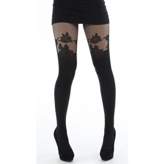tights PAMELA MANN - Floral Suspender Tights - Black - 083