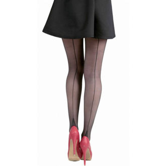 tights PAMELA MANN - Jive Seamed Tights - Black / Black, PAMELA MANN