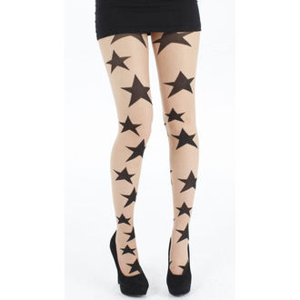 tights PAMELA MANN - Large Sheer Stars - Nude / Black - 102