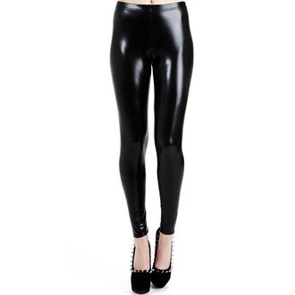 leggings PAMELA MANN - Wet Look Leggings - Black, PAMELA MANN