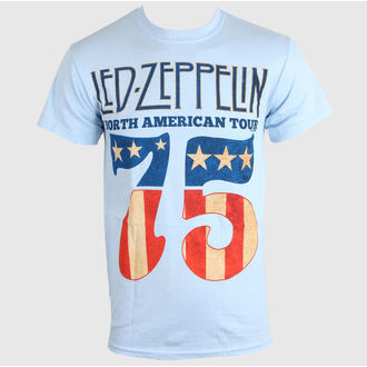 t-shirt metal men's Led Zeppelin - US 75 - LIVE NATION - PELZE096