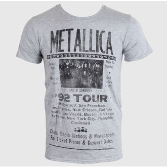 t-shirt men METALLICA - 1992 POSTER - GREY - LIVE NATION - PEMTL095