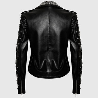 leather jacket women's - Vicious - KILLSTAR - Black